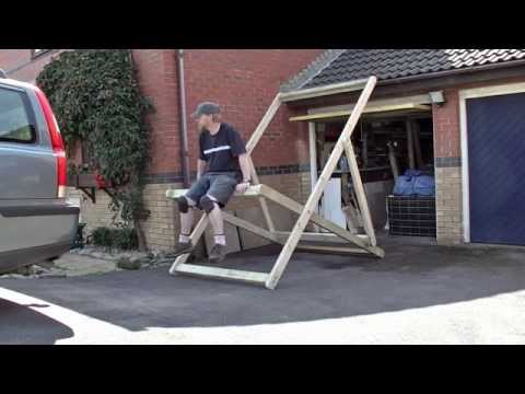 Giant Deckchair (frame) Assembly - August 2014 - Just for fun