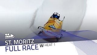 St. Moritz | BMW IBSF World Cup 2019/2020 - Women's Bobsleigh Heat 1 | IBSF Official