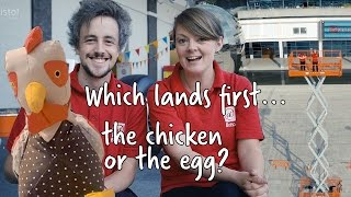 Which lands first... the chicken or the egg? | At-Bristol Science Centre