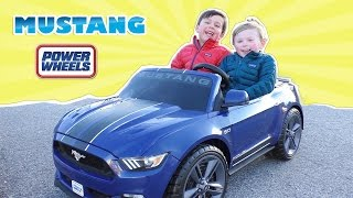 Power Wheels Mustang Smart Drive Kids Electric Vehicle 12v Ford Mustang 5.0