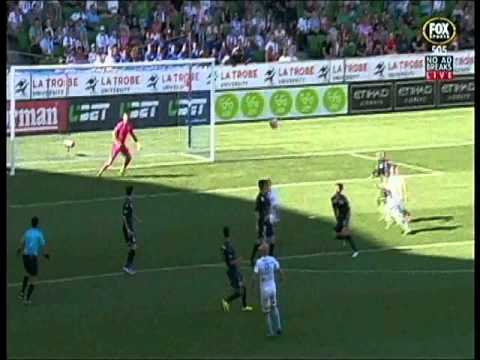Paul Izzo makes a nice save Melbourne City Vs Central Coast Mariners