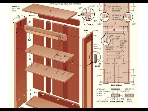 Bookcase Plans - How To Build A Bookcase With Plans,Blueprints ...