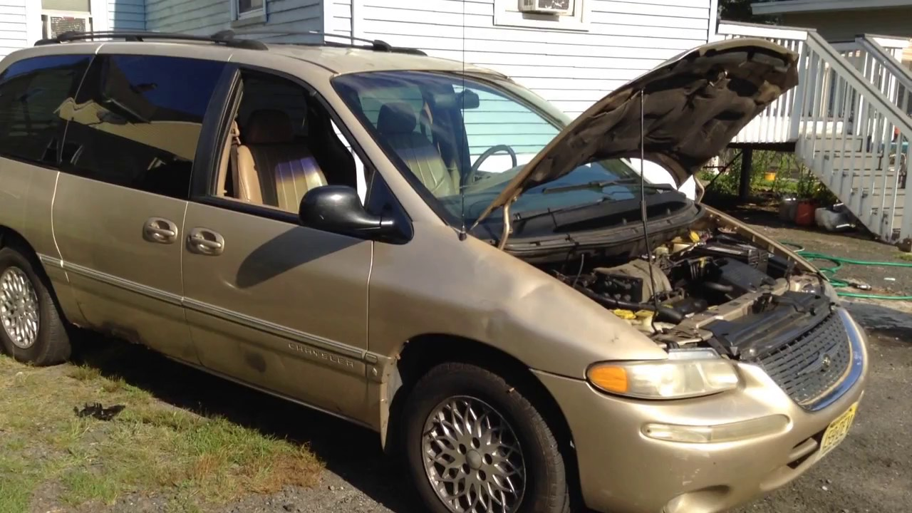 hight resolution of 1998 chrysler town country open car hood quick tip
