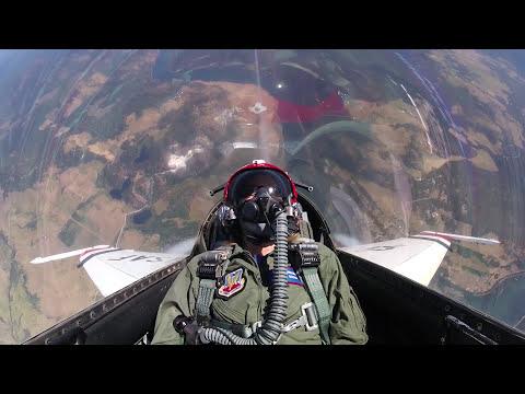USAF Thunderbird media flight with KXLY Meteorologist Kris Crocker