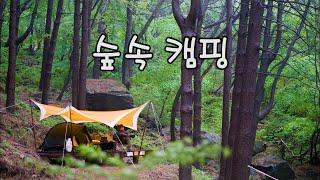 숲속 캠핑 / 솔로캠핑 / 5월 캠핑 / 밤새 비 억쑤…