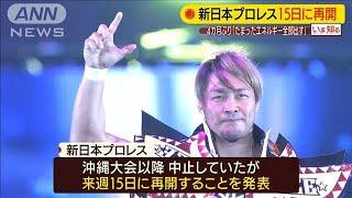 新日本プロレス15日に再開「たまったエネルギーを」(20/06/09)