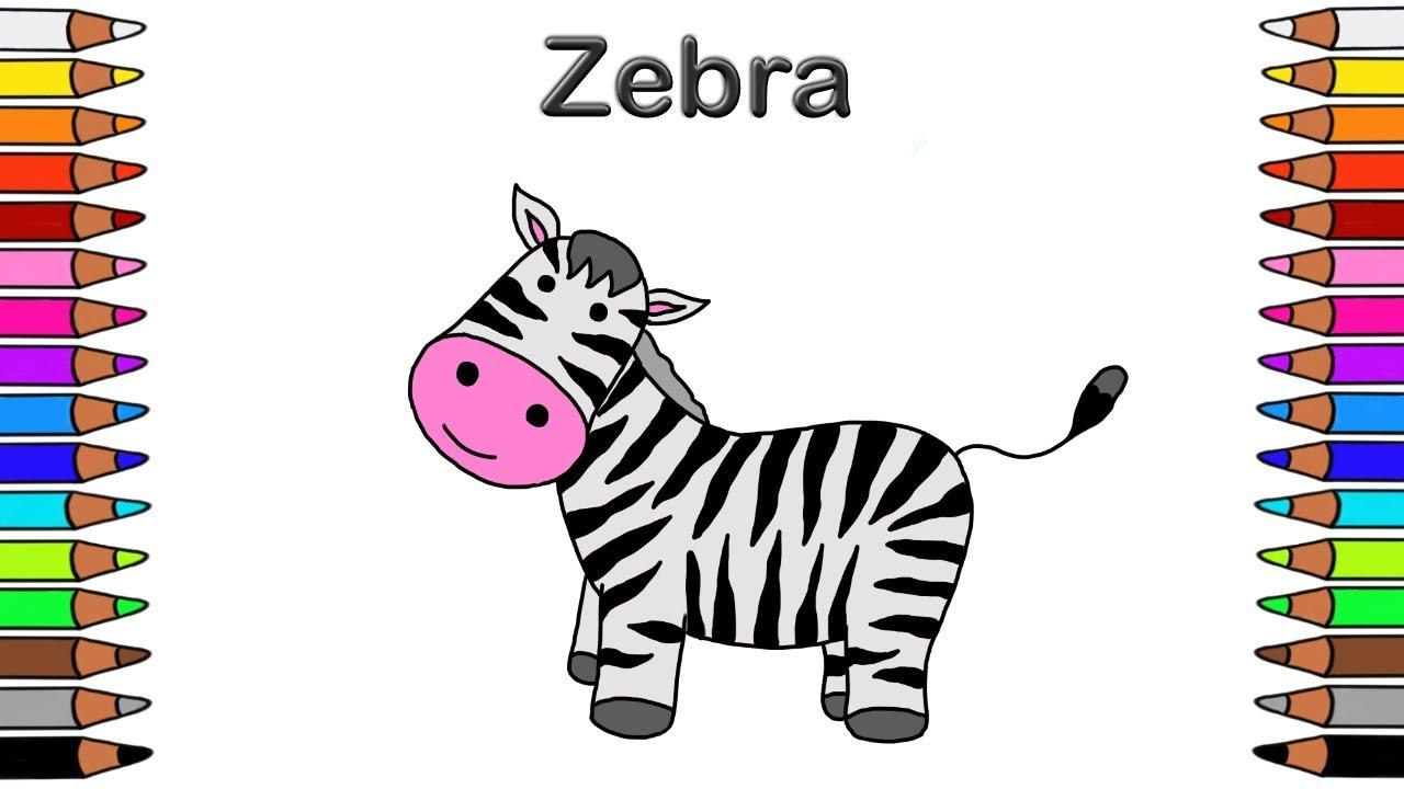 Malen Mit Kindern Für Kinder Ausmalbilder Für Kinder Malbuch Für Kinder Zebra