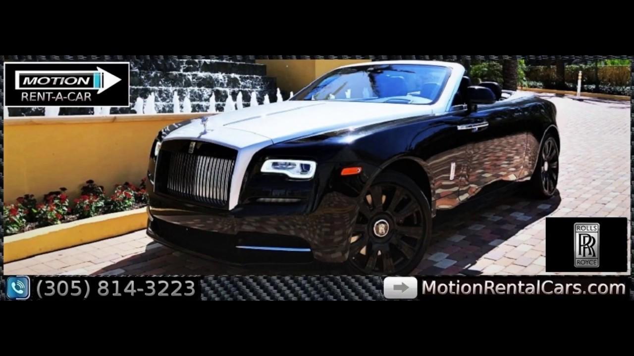Rolls Royce Rental Miami South Beach Ghost Wraith Dawn Phantom