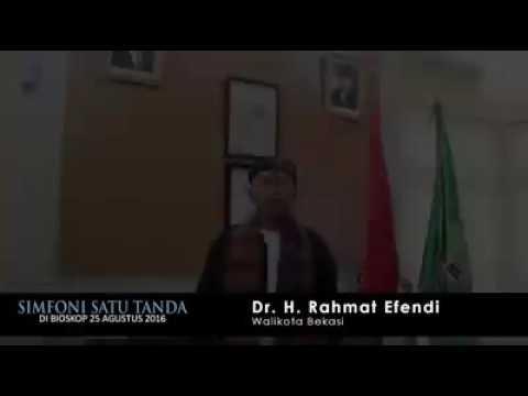 Pendapat Walikota Bekasi #RahmatEffendi tentang film Simfoni Satu Tanda.