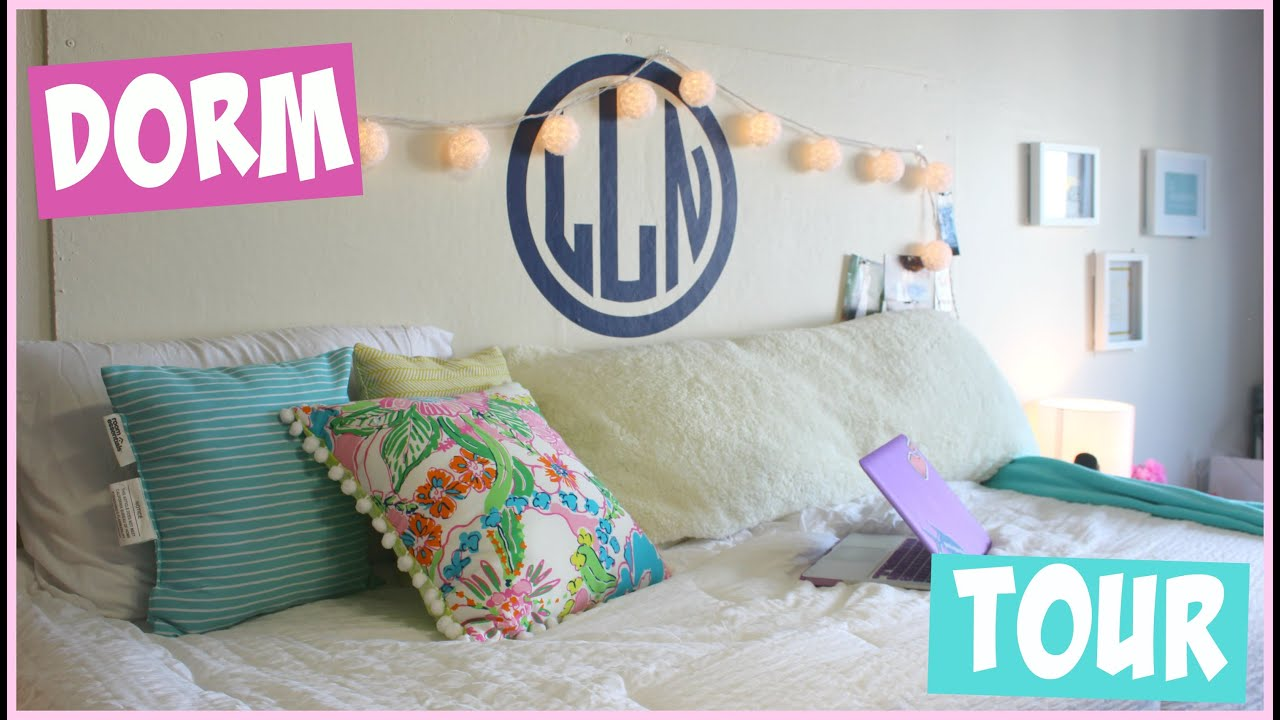 Preppy Bedroom Ideas College Dorm Room Tour Youtube