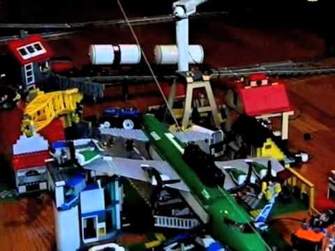 lego plane crash into city 1.mov - YouTube