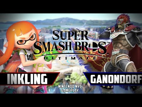Inklings and Ganondorf Gameplay - Super Smash Bros Ultimate thumbnail