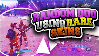 RANDOM DUO PARTNER REACTS TO RARE GINGER GUNNER SKIN (FORTNITE RANDOM DUO GAMEPLAY)