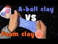 Slijm? Nee.  Ik vergelijk A-clay van Intertoys met Foam Clay van de Action.