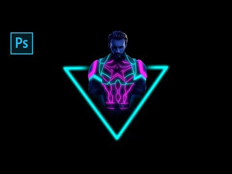 How To Create Neon / Glow Suit In Photoshop - Photoshop Tutorials