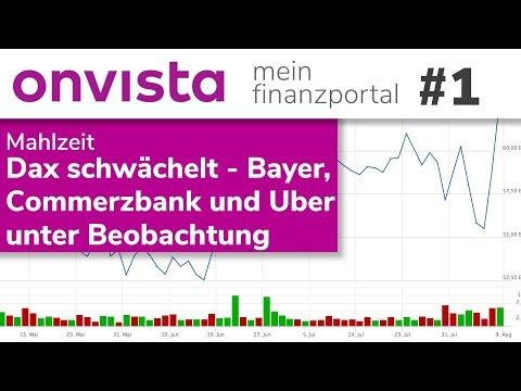 Dax Schwächelt - Bayer, Commerzbank Und Uber Unter Beobachtung - Mahlzeit, Der Börsenhappen