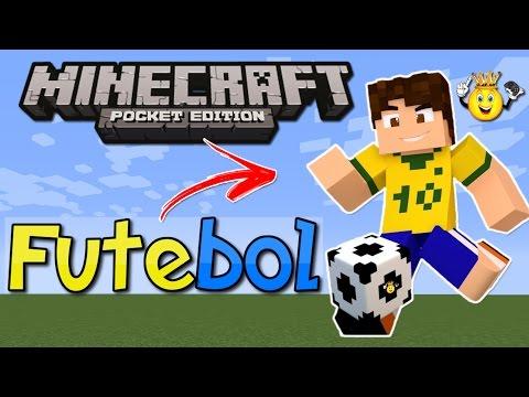 Como jogar futebol Minecraft PE 16.+/1.0/1.0.2 (Addon)
