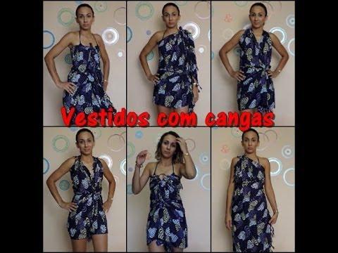 dc5b507d8 DIY - Vestidos com cangas. - YouTube