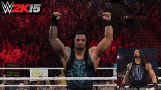 """WWE 2K15 Roman Reigns """"One versus All"""" Updated Attire (Entrance, Signature, Finisher) (PS4)"""