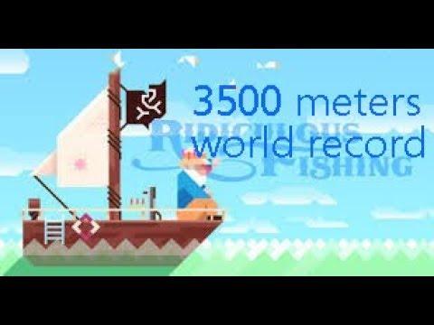 Ridiculous Fishing MAELSTROM WORLD RECORD DEPTH (3500m)
