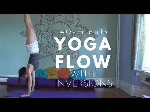 A Peaceful Yoga Flow with Inversions - 40 Mins - Headstand, Pincha, and Handstand Flow