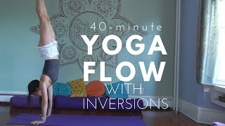 Video A Peaceful Yoga Flow with Inversions - 40 Mins - Headstand, Pincha, and Handstand Flow download MP3, 3GP, MP4, WEBM, AVI, FLV Maret 2018