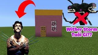 HƯỚNG DẪN TẠO RA CĂN NHÀ BẤT TỬ CÓ KHẢ NĂNG TỰ HỒI PHỤC NHƯ NGƯỜI SÓI TRONG MCPE | Minecraft PE 1.2