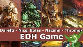 Daretti vs Nicol Bolas vs Nazahn vs Thromok EDH / CMDR game play for Magic: The Gathering