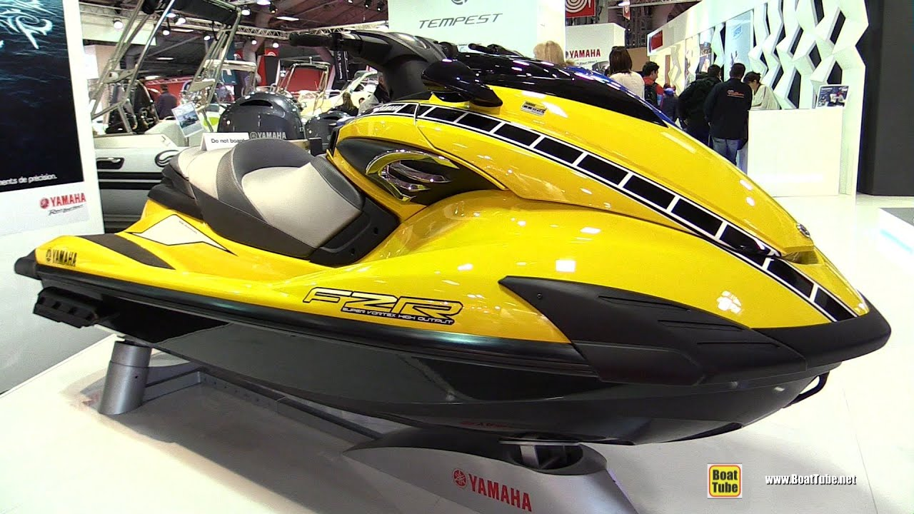 2016 Yamaha FZR 60th Anniversary Jet Ski - Walkaround - 2015 Salon ...