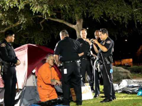 Occupy Long Beach Day Two: LBPD Cite Senior Citizen