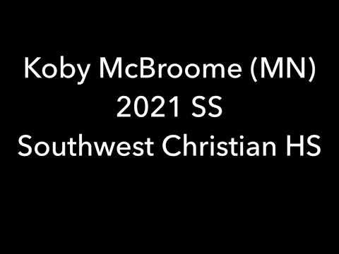 Koby McBroome, 2021 SS, Southwest Christian High School (MN) baseball skills video.