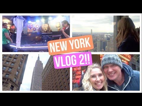 Empire State Building & Singing Waiters?! (New York Birthday Trip!!) Vlog 2!!