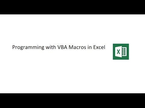 Visual Basic For Applications (VBA) In Excel