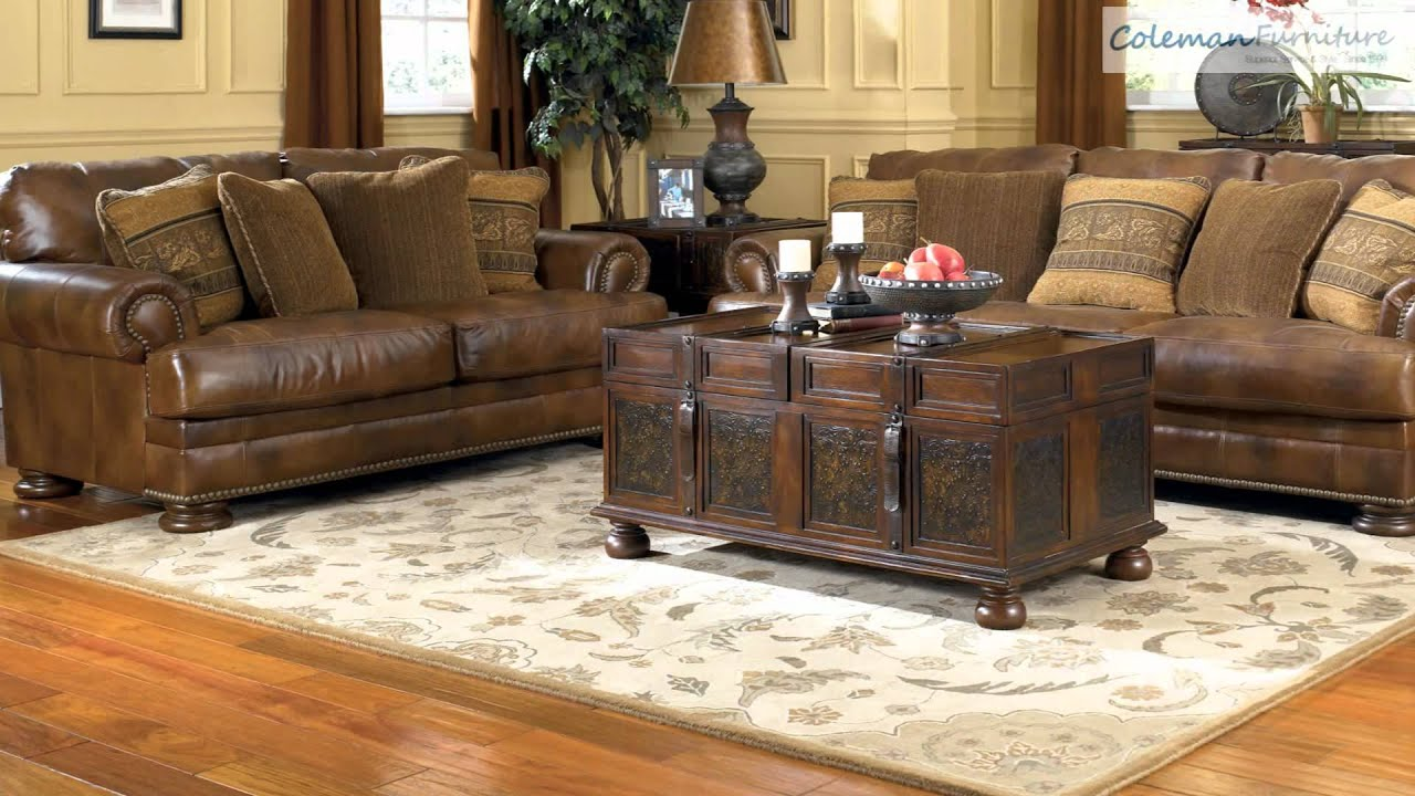 teak living room furniture country style chairs ralston from millennium by ashley youtube