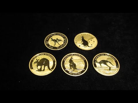 2000 to 2015 Australian Kangaroo Gold Coins Collection