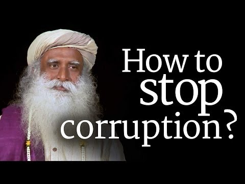 How to Stop Corruption? Sadhguru [Election 2014]
