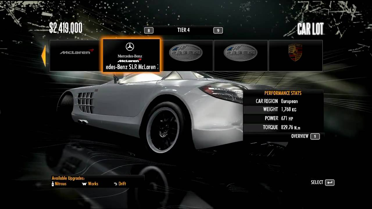 Need for speed shift complete tier 4 cars