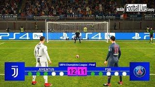 PES 2019 | Juventus vs PSG | Final UEFA Champions League (UCL) | Penalty Shootout