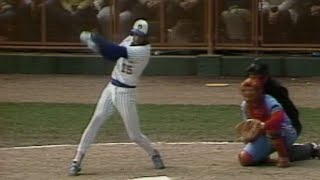 1982 WS Gm4: Cooper's single ties it for the Brewers