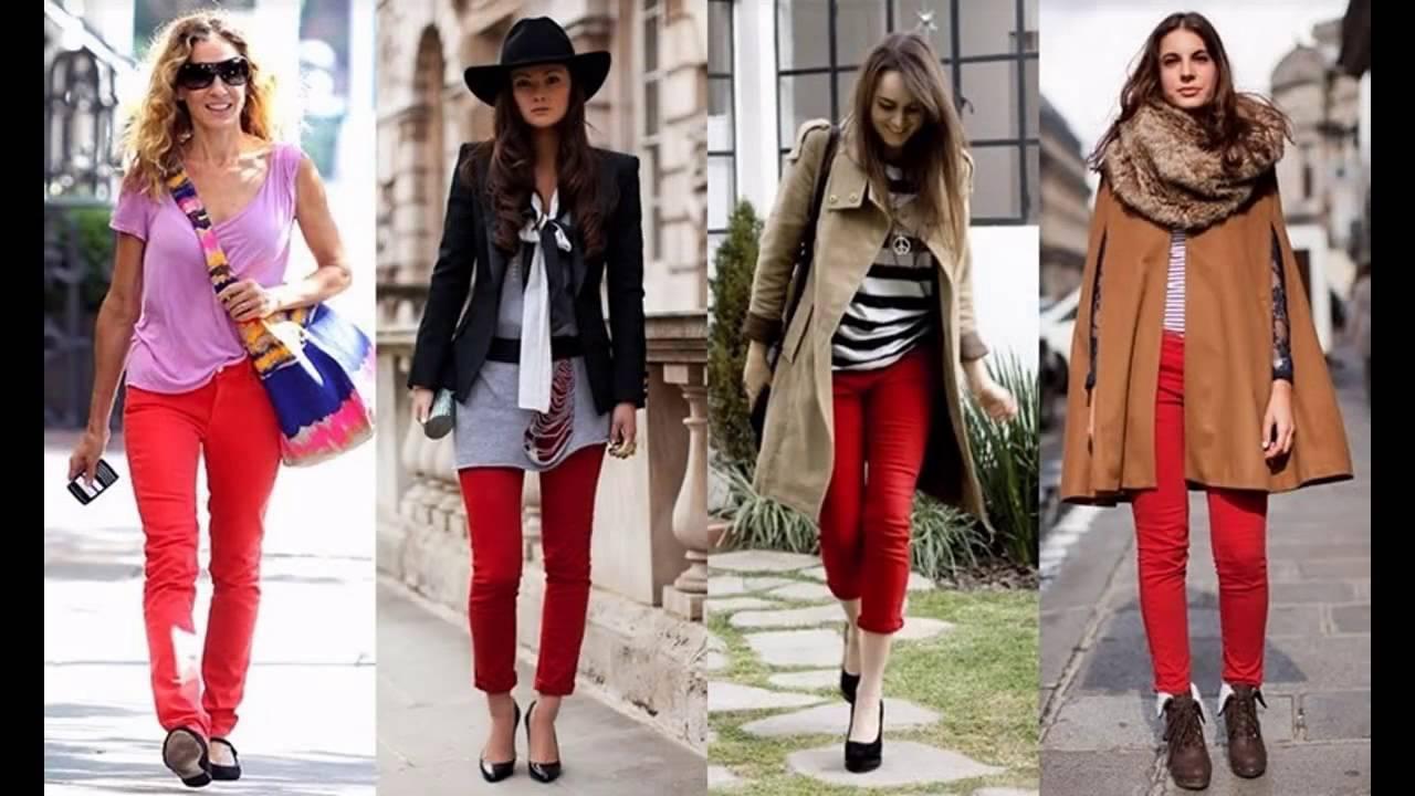 589539151 Cómo combinar un pantalón rojo - YouTube