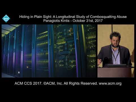 ACM CCS 2017 - A Longitudinal Study of Combosquatting Abuse - Panagiotis Kintis