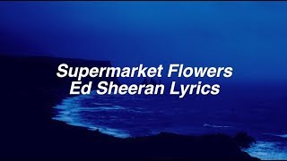 Supermarket Flowers || Ed Sheeran Lyrics
