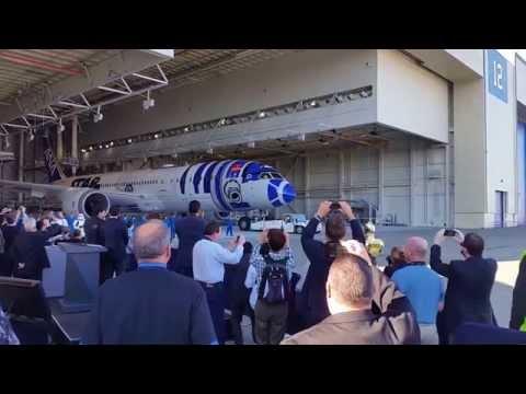 All Nippon Airways R2-D2 787-9 Airplane Reveal