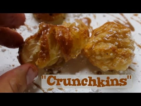 "Mini Donut Croissants- Deep Fried - Dr. Pepper Glaze - Crunchkins!! ""Recipe"""