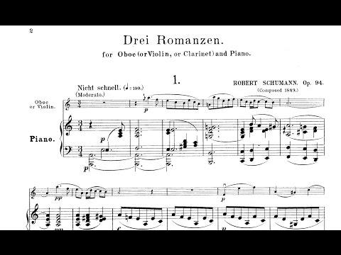Robert Schumann: Drei Romanzen Op. 94 (1849)