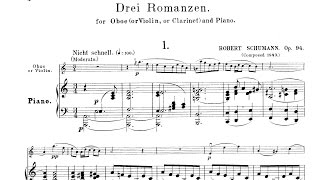 Play Romances (3) For Oboe (Or Violin Or Viola) & Piano, Op. 94