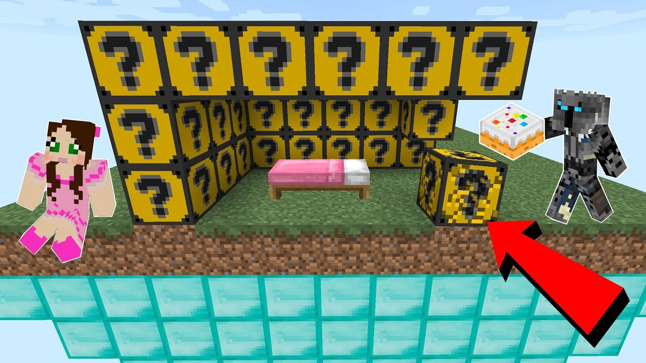 Minecraft Cake Lucky Block Bedwars Modded Mini Game
