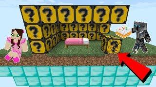 Minecraft: CAKE LUCKY BLOCK BEDWARS! - Modded Mini-Game thumbnail