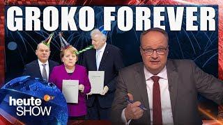 lustig / Merkels dritte Groko - und so richtig Bock hat keiner. | heute-show vom 16.03.2018