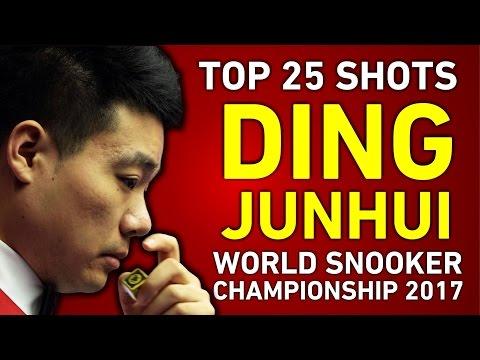 DING JUNHUI 丁俊暉 TOP 25 GREATEST SHOTS | World Snooker Championship 2017